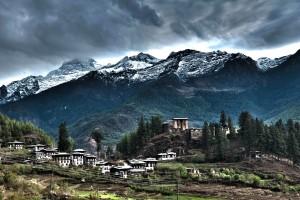 A village in Bhutan